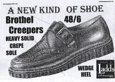 """For those Brits that were Teddy Boys in the 80s, now you know where they got the term """"creepers."""""""