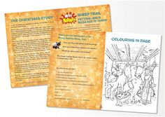 Messy Nativity - Sheep Trail leaflet Activity Ideas, Craft Activities, A Christmas Story, Kids Christmas, Church Banners, Church Crafts, Message Card, Epiphany, Christmas Knitting