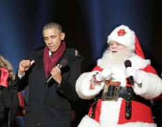 Breaking it down with Santa at the Christmas tree lighting at the White House in 2014
