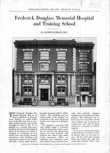 Frederick Douglass Memorial Hospital & Training School.