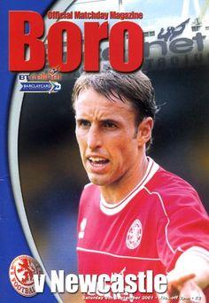 Middlesbrough vs Newcastle United 2001 Cover Star Gareth Southgate