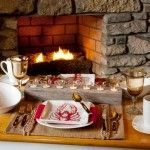 Rustic and Warm Table Setting. #DIY