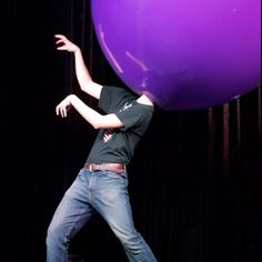 """Wanna see more? You can see the whole routine on YouTube! Just search """"Stephen Herron Big Balloon""""   Thanks & Enjoy!"""