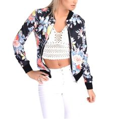 Womens Floral Jacket Price $34.62 AUD Click the link in my bio ---> @soulkreedclothing and grab yours today while stocks last. Sign up to our newsletter and get 15% off all purchases! Item Type: Outerwear & Coats Outerwear Type: Jackets Gender: Women Style: Fashion Sleeve Length: Full Type: Slim Closure Type: Zipper Collar: Stand Decoration: None Pattern Type: Print Hooded: No Clothing Length: Regular Sleeve Style: Regular Material: Polyester  #womensfashion #wome..