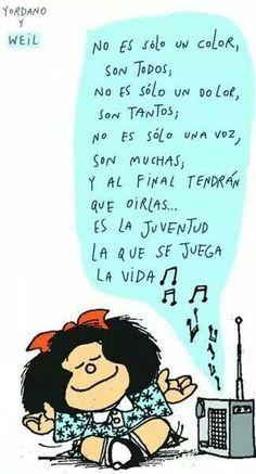 Mafalda: la juventud se juega la vida...