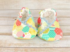 Baby Kimono Shoes  Baby Girl Shoes  Soft Sole by littlepearco