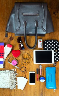 celine luggage purse in anthracite, purse must haves, purse necessities, iPad mini, iPhone, marc jacobs, jcrew, anthropologie, target, dior, nars, kate spade
