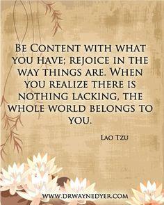 ~Lao Tzu