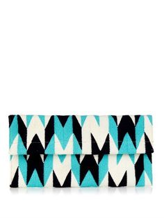 SOPHIE ANDERSON Alma woven-cotton clutch