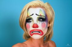 Paint And Makeup Photo Contest Finalists! Creepy Clown Makeup, Circus Makeup, Mime Makeup, Makeup Art, Halloween Clown, Cool Halloween Makeup, Vintage Halloween, Halloween Photos, Halloween Costumes