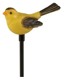 Celebrate the birds of North America with these Woods Moonrays Solar Stakes from Central! They stand 30.31'' above ground height and have a white LED light with a rechargeable battery (included). Choose from 1 of 8 bird species (Gold Finch shown here) and celebrate the birds in your garden! Goldfinch, Backyard Birds, Bird Species, North America, Woods, Solar, Led, Garden, Garten