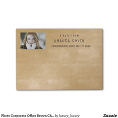 Photo Corporate Office Brown Chalkboard Post-it® Notes