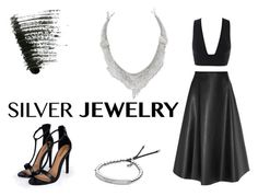 """""""Silver Jewelry"""" by felicia-brianna ❤ liked on Polyvore"""