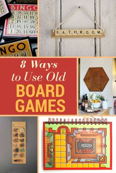 Don't let old board games languish on the shelf. If you've lost pieces, or no longer enjoy them, there are lots of board game crafts you can repurpose them for. Check out these board game upcycling ideas that will bring new life, and a bit of modern design to some of your old favorites.