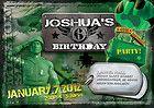 Toy Soldier Army Men Birthday Invitation