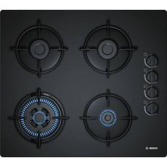 Bosch Series 2 Built in Gas Hob 4 Burners Black Cooktop Genuine for sale online Kitchen Hob, Kitchen Chimney, Kitchen Cooker, Kitchen Modern, Black Appliances, Kitchen Appliances, Photoshop, Bosch Mum, Tragbarer Grill