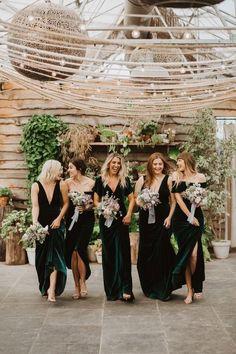 Forest Green Bridesmaid Dresses, Emerald Bridesmaid Dresses, Bridesmaid Dresses Under 100, Different Bridesmaid Dresses, Green Bridesmaids, Alternative Bridesmaid Dresses, Bridesmaid Colours, Emerald Dresses, Beautiful Bridesmaid Dresses
