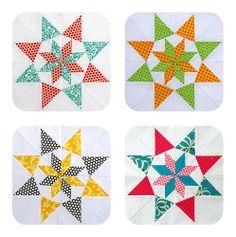paper pieced - colorado stars