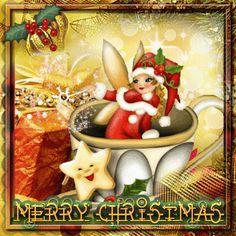 Christmas Teacup Fairy ~ Blingee by stina scott