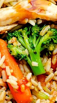 Teriyaki Chicken Casserole is full of chicken, rice and vegetables. The teriyaki sauce gives it outstanding flavor. This meal is one your family will love! Casserole Dishes, Casserole Recipes, Meat Recipes, Asian Recipes, Chicken Recipes, Dinner Recipes, Cooking Recipes, Recipies, Quick Healthy Meals