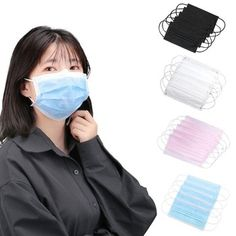 Nonwoven mask Mouth Face Mask Disposable Black Masks White Earloops Masks New - Swedish Health UNO Eyebrow Makeup, Beauty Makeup, Buy Mask, Threading Eyebrows, Neck Massage, Black Mask, Mouth Mask, Health Zone, Health Club