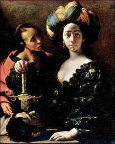 It's About Time: A Woman, a Murder, & The Bible - Judith & Holofernes 1600s _ Judith with the head of Holofernes by Francesco del Cairo, Italian 1607-1665 SN 798 Oil on Canvas 1630-35