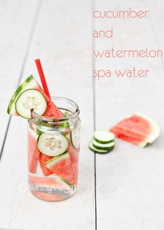 Take 5 spa water with melon and cucumber