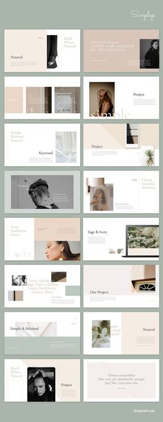 Simple & Minimal design layout: Neutral Presentation Template Best Picture For Book Design color For Portfolio Design Layouts, Layout Design, Design De Configuration, Fashion Portfolio Layout, Ppt Design, Design Blog, Beauty Portfolio Ideas, Student Portfolio Design, Layout Cv