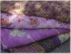 Beautiful Kantha quilts