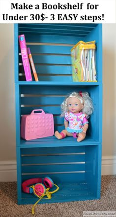 DIY Book Shelf for Under 30$ @Dale Cutlip for when Jax needs another one!