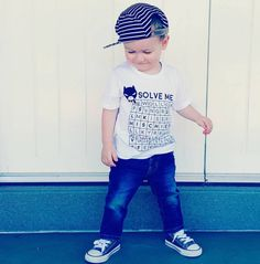 Are we ready for an awesome weekend everyone!?  like always handsome Marley  sporting our 100% ultra soft organic cotton 'Solve Me' tee  #boy #girl #baby #tee #organic #cotton