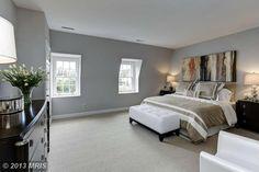 Master Bedroom is done is Charleston Grey!  Trim is Blackened.