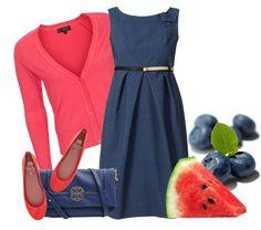 """""""Watermelon & Blueberry"""" by ljjenness ❤ liked on Polyvore"""