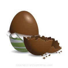 Chocolate egg vector image
