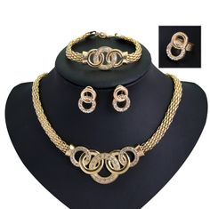 Cheap necklace organizer, Buy Quality necklace jewelry set directly from China necklace and earring set Suppliers:  Brand New Retro Jewelry Sets 18K gold Plated infinity Crystal Necklace Earrings ring bracelet Jewelery Set For Women pa