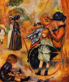 At the Luxembourg Gardens.Pierre-Auguste Renoir (1841 - 1919)