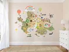 Nursery World Map - Neverland map Decal - Peter Pan map Decal - Clear Vinyl Decal - Neverland Map sticker - baby Nursery Decor - Never land wall art Disney Rooms, Disney Nursery, Baby Disney, Disney Cars, Disney Princess, Neverland Map, Neverland Nursery, Baby Nursery Decor, Nursery Themes
