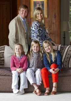 Princess Ariane, King Willem-Alexader of the Netherlands, Princess Alexia, Queen Máxima of the Netherlands, & Catharina-Amalia, Princess of Orange