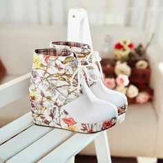 """Color: white, brown, red, Heel height: 3.5 """" Cylinder height: 3.5 """" Tube circumference: 8.6 """"  Visiting Store: http://cuteharajuku.storenvy.com  find more cute fashion things, some suit for you!"""