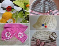 Cappellini per lei...(1'parte) Camilla, Crochet Videos, Crochet Hats, Knitting, Creative, Blog, Kids, Vintage, Bikini