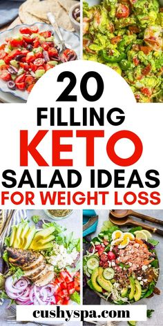 Try these keto salad recipes and lose weight while eating low carb foods. Great for keto lunch, keto dinners or just as a keto snack. #ketodiet #ketogenicdiet #salad