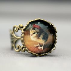 Chick In A Beret Ring by Chicks in Hats ~~oooh la la ;))