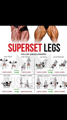 Big legs are cool. Fitness Workouts, Leg Day Workouts, Gym Workout Tips, Weight Training Workouts, Super Set Workouts, Reps And Sets, Weight Loss Meals, Muscle Building Workouts, Bodybuilding Workouts
