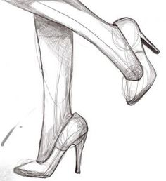 how to draw high heels