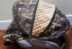 Infant seat cover realtree max 5  ap camo  mossy oak  by Babylooms