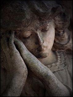 Stone angel from Balmoral Cemetery (AKA Morningside), Brisbane, Australia