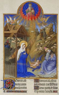 "A Paradise scene illustration from the most famous and perhaps the best surviving example of Gothic French illuminated manuscript ""Les trés riches heures du Duc de Berry"", a prayer book created. Medieval Books, Medieval Manuscript, Medieval Art, Renaissance Art, Illuminated Letters, Illuminated Manuscript, Louis Xii, Medieval Paintings, Book Of Kells"