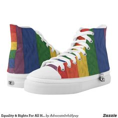 Equality & Rights For All High Tops High Top Chucks, High Top Sneakers, Equal Rights, Equality, Converse Chuck Taylor, Sneakers Fashion, High Tops, Athletic Shoes, Pairs