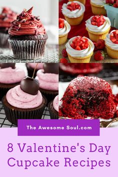 Find the perfect Valentine's day dessert recipe to cozy up with your special one from these 8 Valentine's day cupcakes recipes. #ValentinesDay #ValentinesDayCupcakes #CupcakeRecipes #DessertIdeas #DessertRecipes valentines day cupcakes / valentines day cupcakes ideas / valentines day cupcakes simple / valentines day cupcakes for kids / cupcake recipes / cupcake recipes easy / cupcake recipes valentines day Healthy Cupcake Recipes, Cupcake Recipes For Kids, Healthy Cupcakes, Kid Cupcakes, Valentine Day Cupcakes, Valentines Day Desserts, Dessert Recipes, Brownies, Unique Desserts