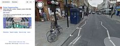 """If you visit this link to Google Maps and click 'Police Telephone Box'… 